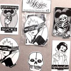 full pack of Disney based graffiti sticker5 stickers in total