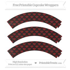 Free Dark Red Heart Pattern Chalk Style Cupcake Wrappers----HAS MANY COLORS---- http://www.printabletreats.com/page/361/?s&colorOptions&categoryOptions=Cupcake+Wrappers