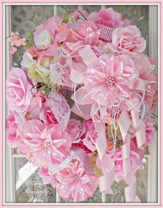 Pink Princess Victorian Cottage Chic Wreath by Oliviasromantichome, $200.00 - Just amazing!!!