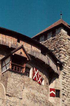 Bedroom window in the Castle in Vaduz, Lichtenstein, 2013