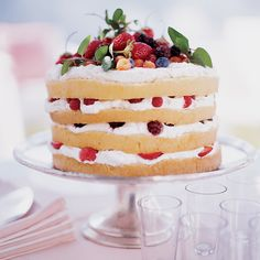 This traditional shortcake is a classic for a reason -- just about everyone loves the play of tart, juicy berries, airy whipped cream, and layers of delicate cake.