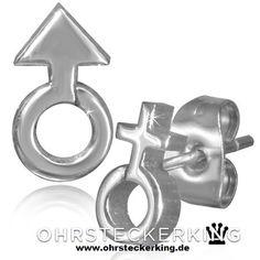 Ohrstecker Symbol für Mann/Frau Edelstahl Neu