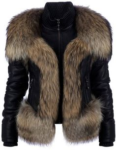 ShopStyle: Philipp Plein lamb leather fur jacket
