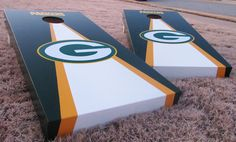 green bay packers corn hole | Custom Corn Hole, Corn Hole Boards, Cornhole Games | packers ...