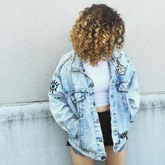 Oversized jacket #DenimDay #curls