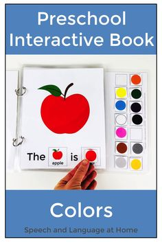 Preschoolers love learning with interactive books. Teach your students color words with this fun activity. Great for speech therapy, special educations and preschool classroom teachers. Young children are so engaged with interactive books. Build vocabulary by identifying or labeling single words. Also includes sign language cards to teach color vocabulary. #emergingreaders #forpreschoolers