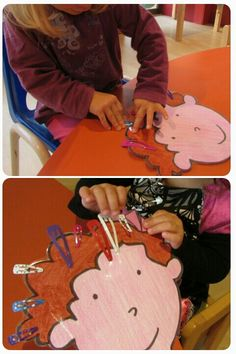 Great way to foster fine motor and hand/eye coordination skills.