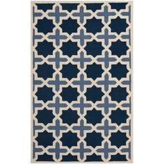 Safavieh Cambridge Blue/Ivory 6 ft. x 9 ft. Area Rug - CAM127A-6 - The Home Depot