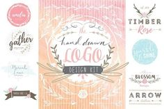 Hand Drawn Logo Design Kit by Eclectic Anthology on @creativemarket