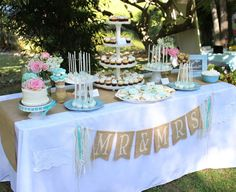 Una preciosa mesa de dulces para una boda / A lovely wedding dessert table