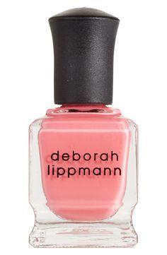 Currently wearing this pretty coral shade | Deborah Lippman nail color.