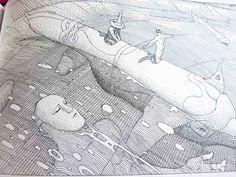 40 Days in the Desert – A timeless, eternal mythical tale by Moebius 40 Days Manado, Illustrations, Illustration Art, Moebius Art, Postmodern Art, Visual Map, Western Comics, Jean Giraud, Fantasy Comics