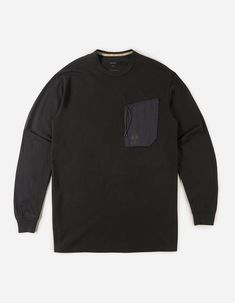 maharishi | Tech Pocket L/S T-Shirt · Organic Cotton Jersey 190