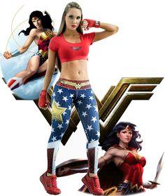 Fiber - Wonder Woman Leggings - Roni Taylor Fit  - 6