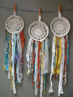 fabric dream catchers