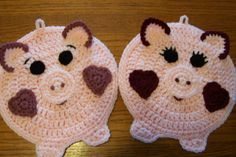 Mr and Mrs Oinker Wall Hangings / Potholders (pr) 108