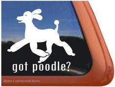 GOT POODLE? Dog Window Decal Sticker ~ Fun & Bouncy!
