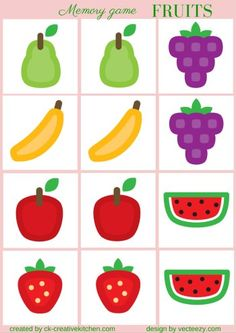 GROCERY - #MEMORY #GAME FREE PRINTABLES / #PRESCHOOL