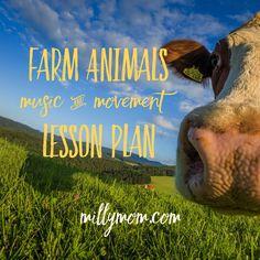 Farm Animals - Music & Movement Lesson Plan
