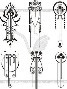 Art nouveau patterns - vector image