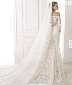 vestidos de novia 2015 cortes sirena con cola larga - Buscar con Google