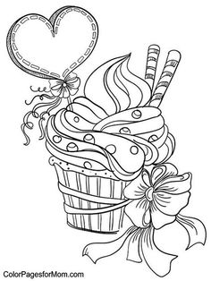 Done - Icecream sundae with bow & balloon