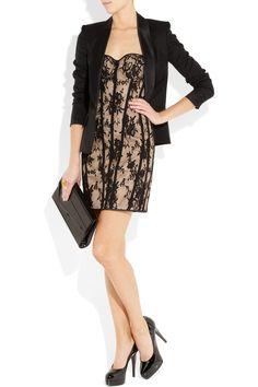 Rosamosario lace and silk corset dress