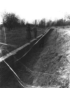 1931 excavation, Stratford Hall, Virginia Stratford Hall, Westmoreland County, Northern Virginia, Family History, Railroad Tracks, Homestead, Garden Design, Country Roads, Park