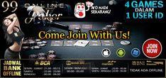 Poker Online Indonesia 99Onlinepoker adalah website judi online yang menyediakan permainan yaitu poker, domino, ceme dan capsa nya, dengan minimal deposit 10 Rb