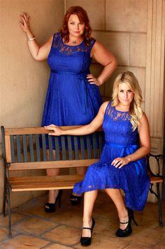 Under the Moonlight Dress in Royal Blue
