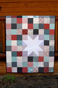 Quilt Baby Toddler Feed Company Scrappy Patchwork by PiecesOfPine