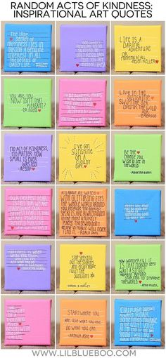 School Counseling Office-- random acts of kindness quotes (our 2014 random act of kindness project) via lilblueboo Ashley Hackshaw