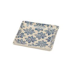 Square Plate in Blue Motif | ChoppingBoard