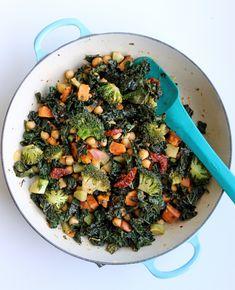 Broccoli, Kale, and Chickpea Stir-Fry — Whole Nourishment