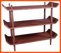 Control Brand Morris Bookshelf, Walnut - Improve your home (*Amazon Partner-Link)