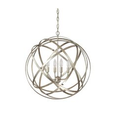 Features:Construction Material: MetalHardwired connectionAccommodates (4) 60 watt candelabra bulbs - not included