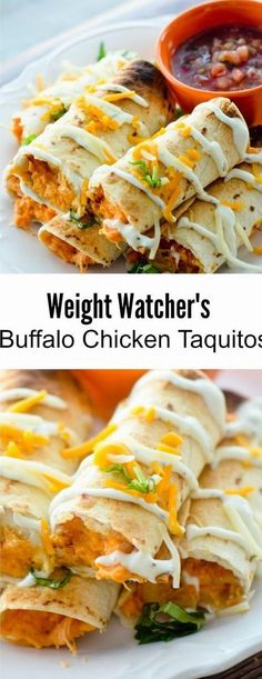Buffalo Chicken Taquitos for Weight Watcher& - 3 points - Recipe Diar. -Baked Buffalo Chicken Taquitos for Weight Watcher& - 3 points - Recipe Diar. Ww Recipes, Mexican Food Recipes, Cooking Recipes, Recipies, Popular Recipes, Cooking Games, Low Far Recipes, Cooking Classes, Amazing Food Recipes