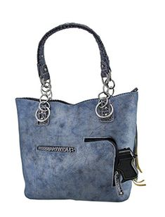 bfc89f6af7a Cowgirl Trendy Western Fringe Tote Handbag Concealed Carry Purse  (Turquoise) Buy New   43.29