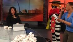 ST. LOUIS, Mo. – The Hamburglar surprised a local TV host Monday in St. Louis, but it did not go as planned. The classic McDonald's character dropped by FOX 2 News after this clip went viral last w...