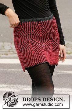 Finally the weekend / DROPS - free knitting patterns by DROPS desi . : Finally the weekend / DROPS – free knitting patterns by DROPS design Drops Design, Knitting Patterns Free, Knit Patterns, Free Knitting, Skirt Knitting Pattern, How To Purl Knit, Fair Isle Knitting, Knit Skirt, Knit Crochet