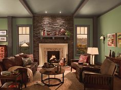 Country Dining Room Color Schemes living room paint schemes beige and green | living room wall