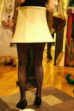 Christmas Story Lamp. If I can find a lamp shade big enough to cover my behind, I am doing this next Halloween or Tacky Sweater Xmas Party. G;)