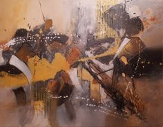 Abstrakte Malerei (Farben braun, gelb und weiss) von Tina Mitterhurmer www.tina-kunst.at Painting, Art, Abstract Pictures, Painting Abstract, Yellow, Colors, Art Background, Painting Art, Paintings