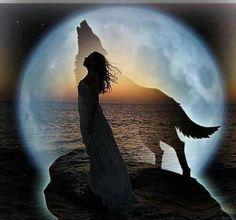 Woman, Wolf, Moon