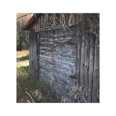 Rustic Abandoned Wood Shed on Canvas - rustic gifts ideas customize personalize