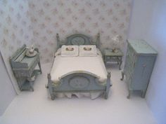 Dollhouse bedroom double Hand Made a by Insomesmallwayminis
