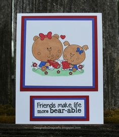 Designs by Dragonfly: Friendship Card ~ Coffee Friends {1st Post}