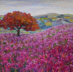 Heather on the hillside by Emmy Elphick  Copyright remains with the artist.  #emmyelphick