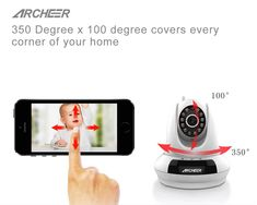 Archeer FI-366 Wireless 720P P2P IP Security Camera Night Vision Pan & Tilt Two-Way Audio Camera  Worldwide delivery. Original best quality product for 70% of it's real price. Buying this product is extra profitable, because we have good production source. 1 day products dispatch from...