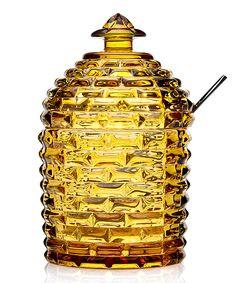 Amber Beehive Honey Jar